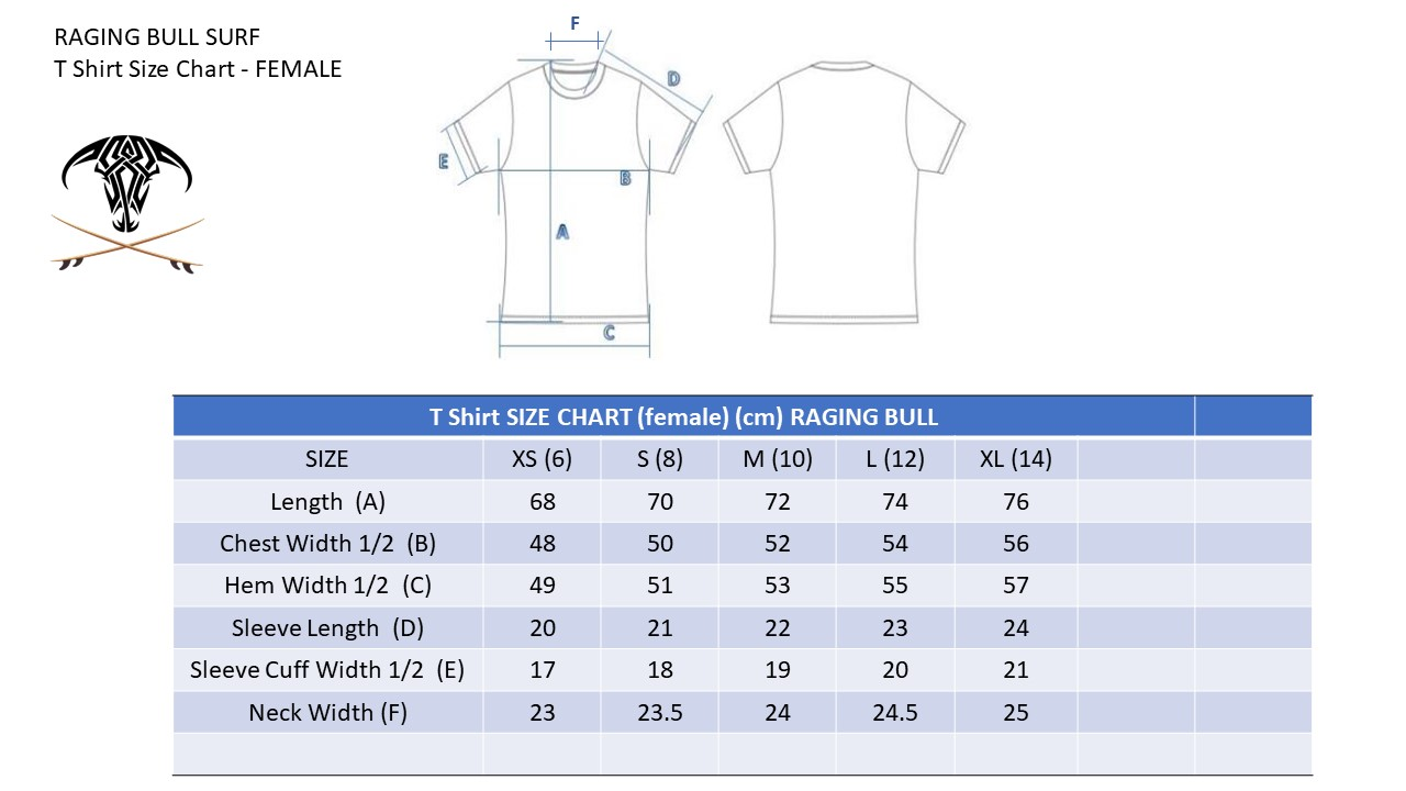 Raging-Bull-Size-Chart-T-Shirt-FEMALE